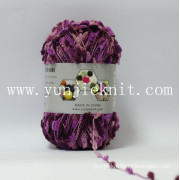 Microfiber Polyester Tooth Fancy Yarn