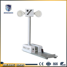 white color rechargeable can rotate light tower