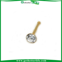 Gold Spoon Nose Stud Nose Piercing