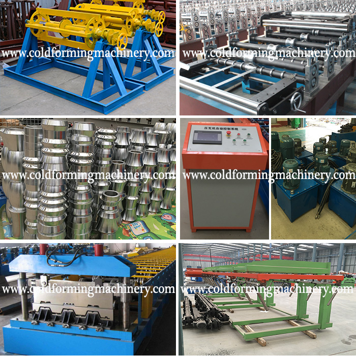 steel deck sheet roll forming machine