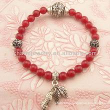 Мода природных коралловых бисера браслет SB-0144
