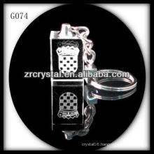 laser etched crystal keychain and blank crystal G074