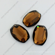 Coffee Mirror Glass Stones Loose Jewelry Stones for Wholesale