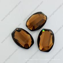 Pedras de vidro do espelho do café pedras frouxas da jóia para a venda por atacado