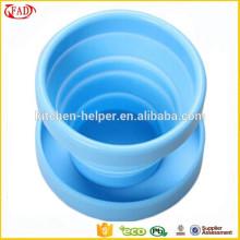 Fácil taza flexible de viaje práctico de silicona