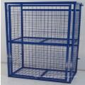poudre enduite de stockage de cage de sécurité de maille de bouteille de gaz de 12 x 19kg