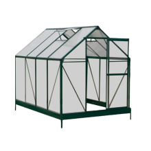 Aluminium Alloy Frame Polycarbonate Sheet Garden Greenhouses