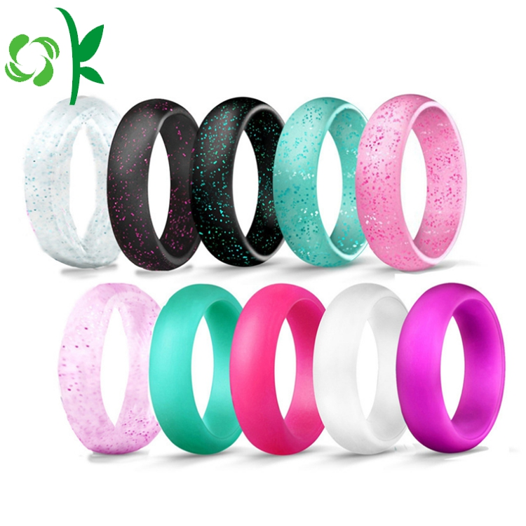 Fshion silicone powder ring