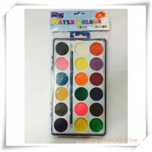 Pintura promocional sólido-seco colorido aquarela conjunto para presente da promoção (OI33014)