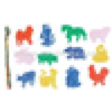 EN71 padrão crianças plástico threading blocos de construção brinquedos