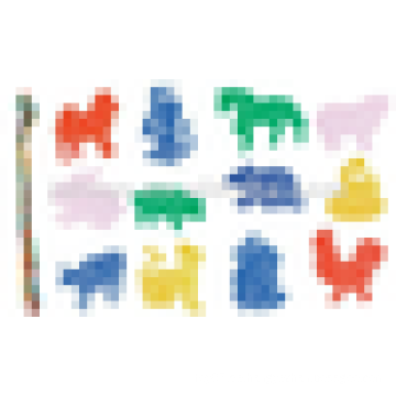 EN71 Standard Kinder Kunststoff Threading Baustein Spielzeug
