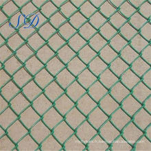 Clôture de lien de chaîne de route enduite par PVC vert d'usine