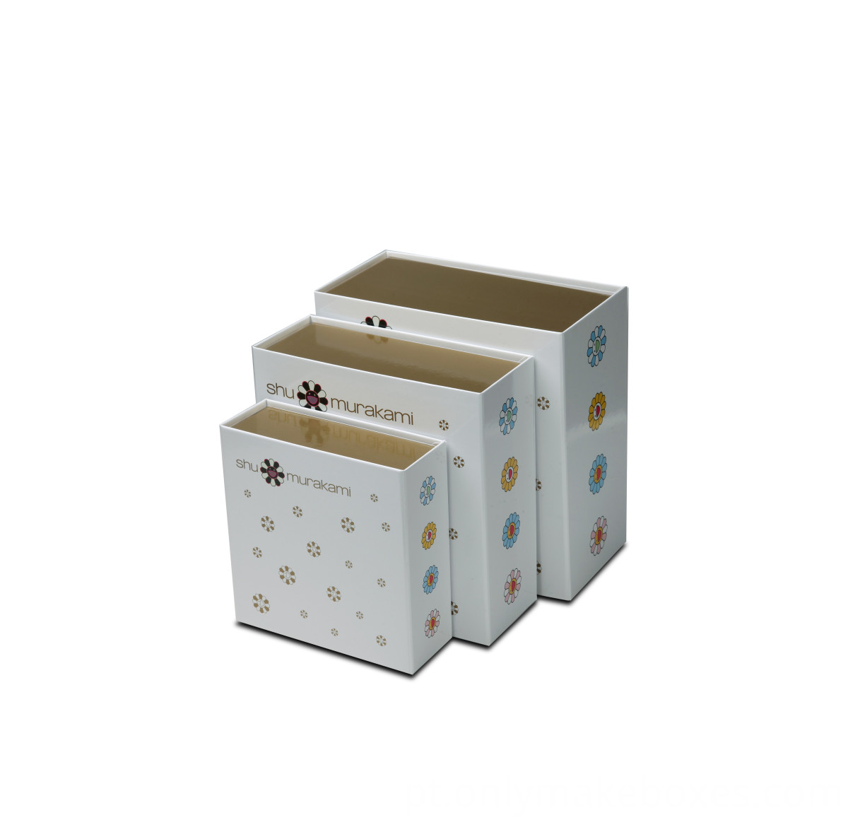 Gold Collapsible box with magnet and side way folding