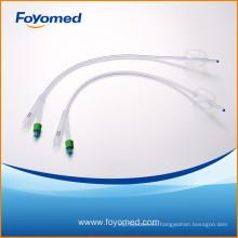 Catéter Foley de silicona de 2 vías