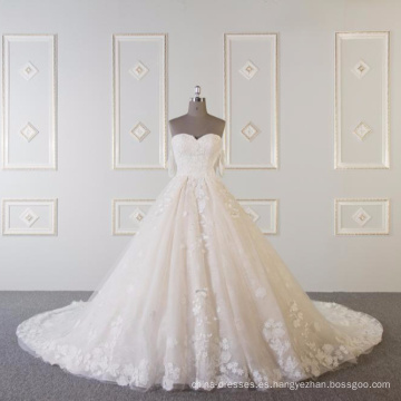Vestidos de novia del vestido de novia sin tirantes de Alibaba