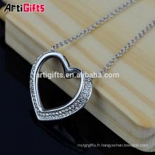 Artigifts Cadeaux promotionnels Best Friends Coeur en forme de pendentif Coeur Collier