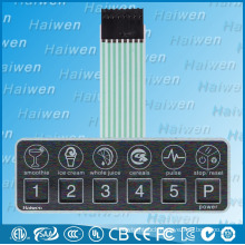 Good pricing waterproof push button membrane switch with 3M adhesive
