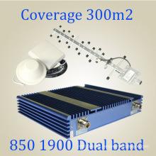 Banda doble 850 / 1900MHz CDMA PCS de señal de impulsión GSM Repater