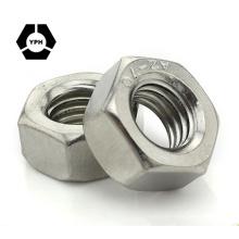 """Écrous hexagonaux DIN934 ANSI / ASME B18.2.2 / ISO4032 Écrous hexagonaux # 6 - 3/4 """"carbone / acier inoxydable noir zingué HDG"""