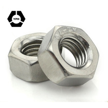 "ANSI/ASME B18.2.2/ISO4032 Hex Nut DIN934 Hexagon Nuts #6 - 3/4"" Carbon/Stainless Steel Plain Black Zinc Plated HDG"