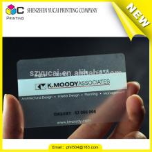 Cartões de visita claros impressos personalizados personalizados 250