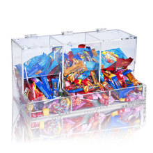 Three Tiers Acrylic Display Box for Chocolate, Acrylic PDQ Box