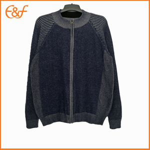 Mens Zip Up Sweater Cardigan Winter Knit Jacket
