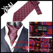 Seide Großhandel Krawatten Krawatte in Siebdruck Mode-Designs Ascot Krawatte Muster