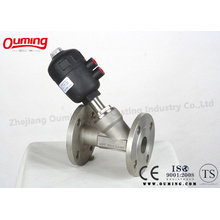 Stainless Steel Pneumatic Operated Angle Seat Valve