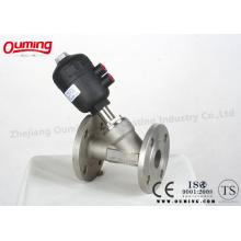 Пневматический регулируемый угловой клапан из нержавеющей стали