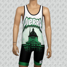 Custom Low Price Polyester Sublimation Wrestling Singts