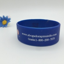 Custom Logo Printed Eco-friendly Silicone Bracelet