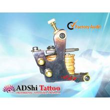 Горячие продажи ADShi 8 обертывания про-жар выстрелил ручной работы тату пулеметы с латунными заклепками