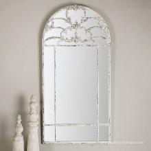 Уцененный возрасте в состоянии белого каркаса стены декоративное Зеркало для украшения стены