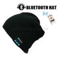 Оптовая продажа 100% акрил beanie трикотажные шапки диктора bluethooth музыки гарнитура беспроводной микрофон