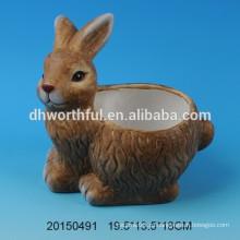 Прекрасные керамические цветочные горшки для кролика