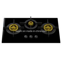 Вакуумная газовая конфорка из нержавеющей стали с уникальным трехслойным покрытием (стекло 8 мм)