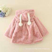 2016 Navidad abrigos de color rosa pieles adorables niños abrigos animales patrones lindo ropa de año nuevo niños halloween peludo caliente