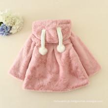 2016 Natal rosa casacos peles crianças adoráveis casacos padrões animais bonito novo ano roupas crianças halloween peludo quente
