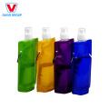 Bouteille d'eau en plastique sport pliable sans BPA