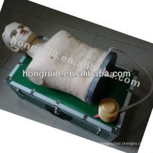 Toracotomía ISO, descompresión de neumotórax de tensión, simulador de tratamiento con neumotórax