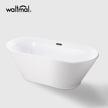 Oval Acrylic Double Ended Bathtub Freestanding