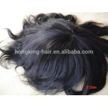 Индийский Девы Волос Супер Штрафа Швейцарский Шнурок 100% Человеческих Волос Мужчин Парик
