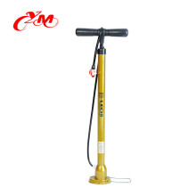 2018 top quality bike pump with pressure gauge/New model bicycle tire pump for sale/Wholesale Portable Multi bike floor pumps