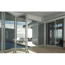 Thermal Controlled Folding Double Glass Aluminium Doors