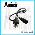 Pino de oco poder UL padrão Home plug cabo cabo para 125v