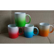 Tasse de couleur de changement progressif, tasse en céramique de couleur de jet