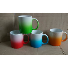 Gradual Change Color Mug, Spray Color Ceramic Mug