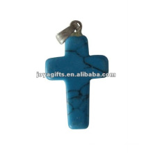 Turquoise Gemstone Cross Pendant