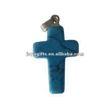Turquoise Gemstone Cross Pendant